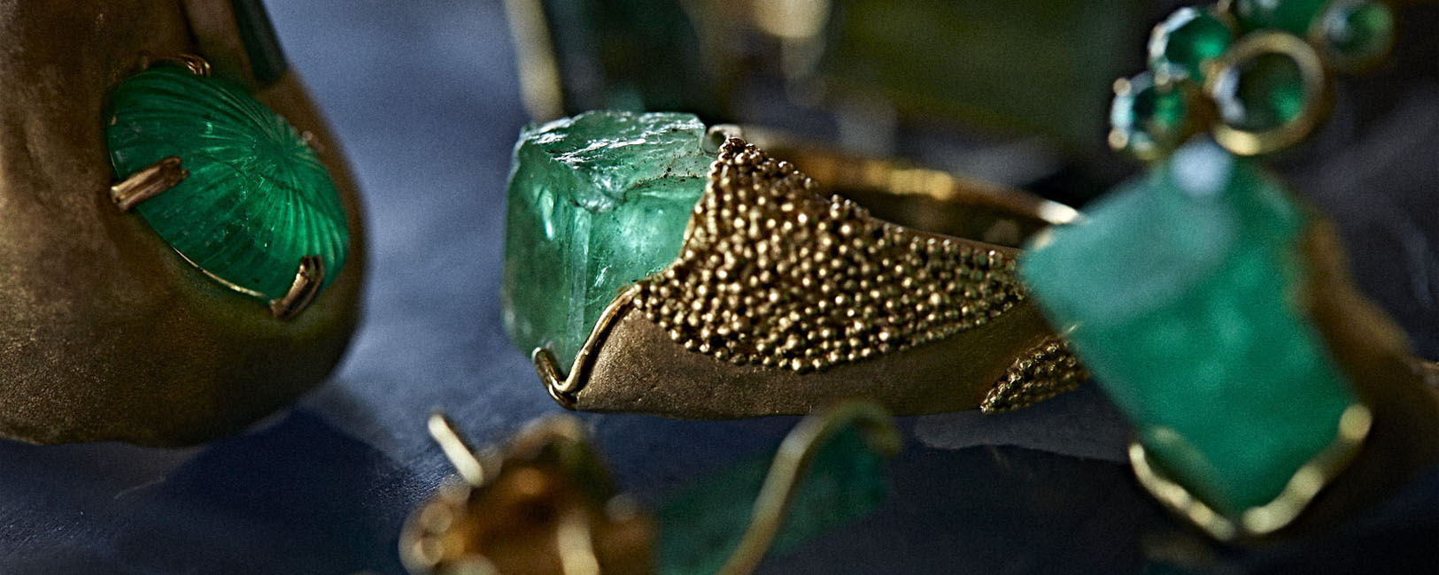 Colombia Raw Emerald Ring