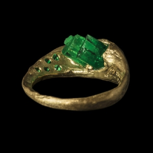 honoka raw emerald jewellery hand crafted gold ring